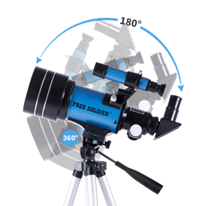 54cb77d8 f09e 494b 824e 1c8d069b2be9.  CR0,0,300,300 PT0 SX300 V1    - FREE SOLDIER Telescope for Kids&Astronomy Beginners - 70mm Aperture Refractor Telescope for Stargazing With Adjustable Tripod Phone Adapter Wireless Remote Perfect Travel Telescope Gift for Kids, Blue