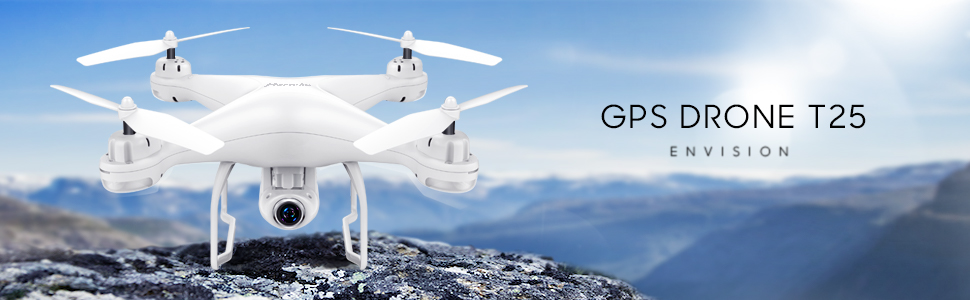 5b29121a a380 4501 9cf0 d4410dee505a.  CR0,0,970,300 PT0 SX970 V1    - Potensic T25 GPS Drone, FPV RC Drone with Camera 1080P HD WiFi Live Video, Auto Return Home, Altitude Hold, Follow Me, 2 Batteries and Carrying Case