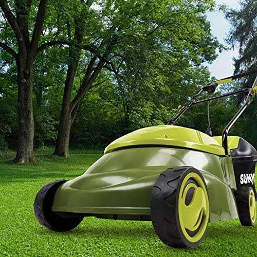 "61cryNThmyL. AC  - Sun Joe MJ401E-PRO 14 inch 13 Amp Electric Lawn Mower w/Side Discharge Chute, 14"", Green"
