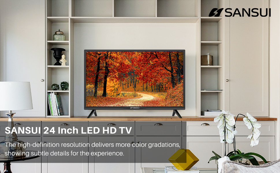 67fb3e7e 79de 4567 805a c2019680acd5.  CR0,0,970,600 PT0 SX970 V1    - SANSUI 24 Inch TV 720P Basic S24 LED HD TV High Resolution Flat Screen Television Built-in HDMI,USB,VGA Ports - Refresh Rate 60Hz (2020 Model)…