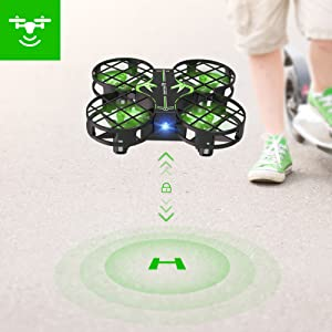 8d4b0b95 c02d 4a20 a256 5f594ab41918.  CR0,0,1001,1001 PT0 SX300 V1    - SNAPTAIN H823H Mini Drone for Kids, RC Pocket Quadcopter with Altitude Hold, Headless Mode, 3D Flip, Speed Adjustment and 3 Batteries-Green