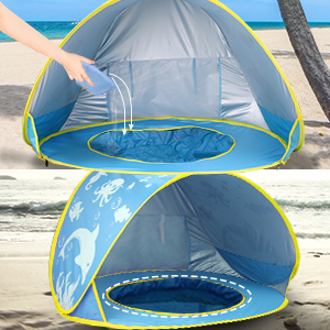 973f2a37 c400 488c a33e 289a789c45a5.  CR0,0,300,300 PT0 SX300 V1    - TURNMEON Baby Beach Tent with Pool,2020 Upgrade Easy Fold Up & Pop Up Unique Ocean World Baby Tent,50+ UPF UV Protection Outdoor Tent for Aged 0-4 Baby Kids Parks Beach Shade (Blue)