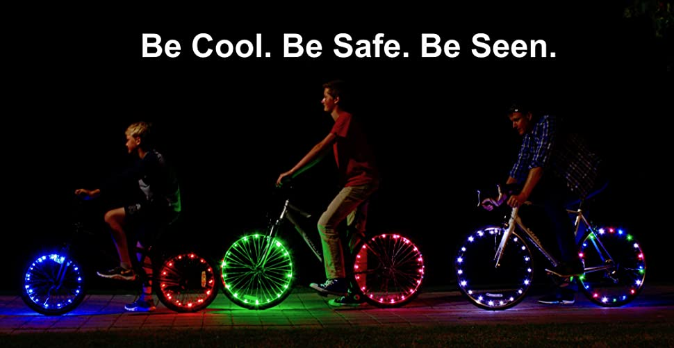 XTQ5kkryTuSn. UX970 TTW   - Activ Life LED Bike Wheel Lights with Batteries Included! Get 100% Brighter and Visible from All Angles for Ultimate Safety & Style (1 Tire Pack)