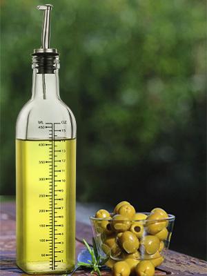 a6a728c6 22ae 4630 8198 6b1de85b87bc.  CR0,0,300,400 PT0 SX300 V1    - [2 PACK]Aozita 17 oz Glass Olive Oil Dispenser Bottle Set - 500ml Clear Oil & Vinegar Cruet Bottle with Pourers, Funnel and Labels - Olive Oil Carafe Decanter for Kitchen