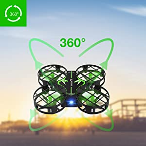 a934d2fb 3d7f 46fe a4a2 b32fa67171e5.  CR0,0,1001,1001 PT0 SX300 V1    - SNAPTAIN H823H Mini Drone for Kids, RC Pocket Quadcopter with Altitude Hold, Headless Mode, 3D Flip, Speed Adjustment and 3 Batteries-Green