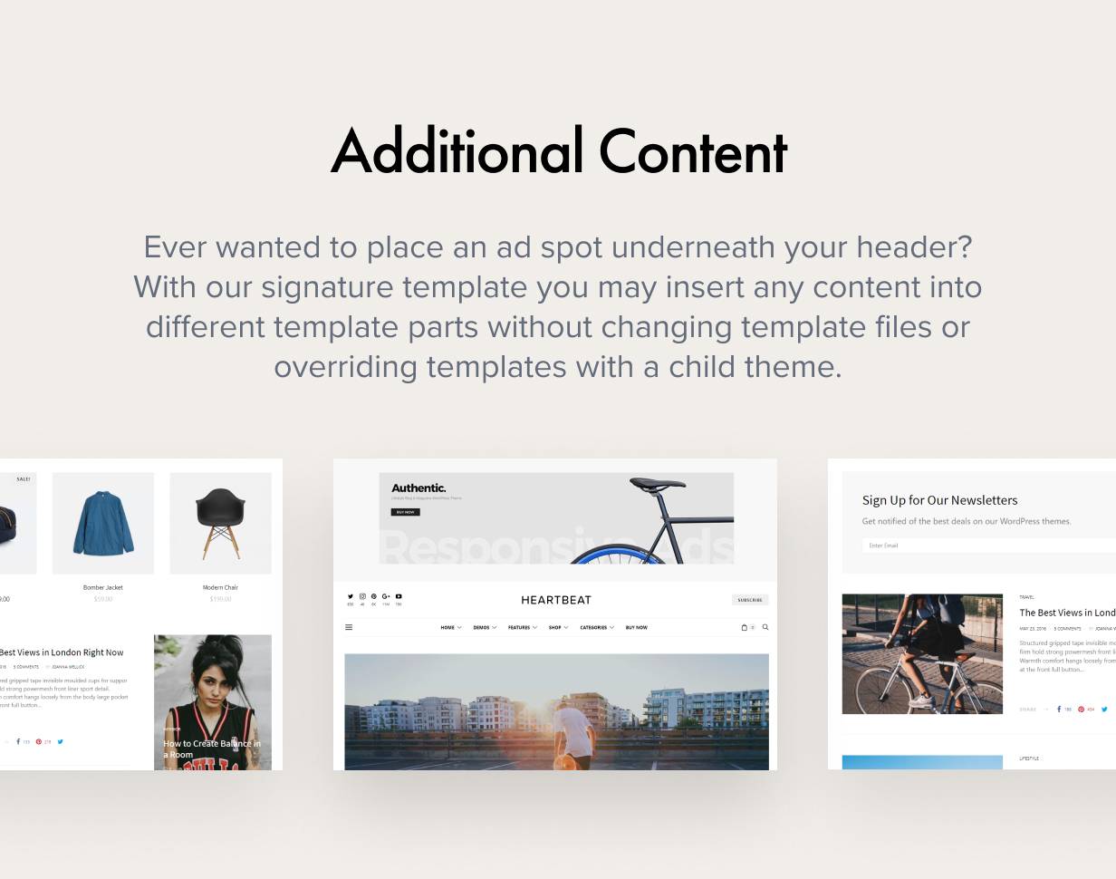 additional content - Authentic - Lifestyle Blog & Magazine WordPress Theme