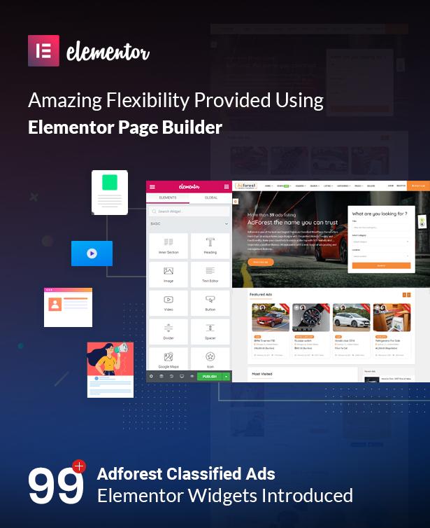 adforest elementor - AdForest - Classified Ads WordPress Theme