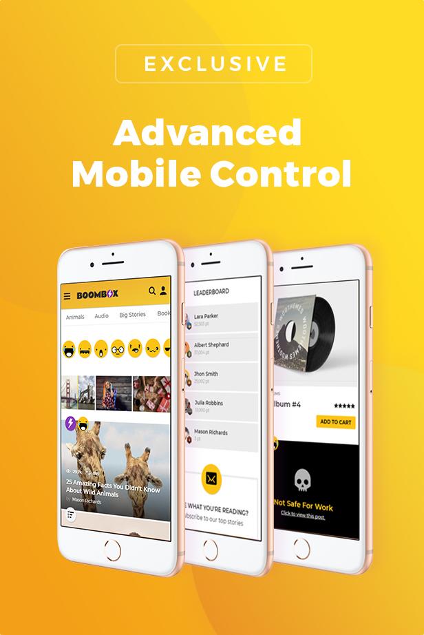 advanced mobile control - BoomBox — Viral Magazine WordPress Theme