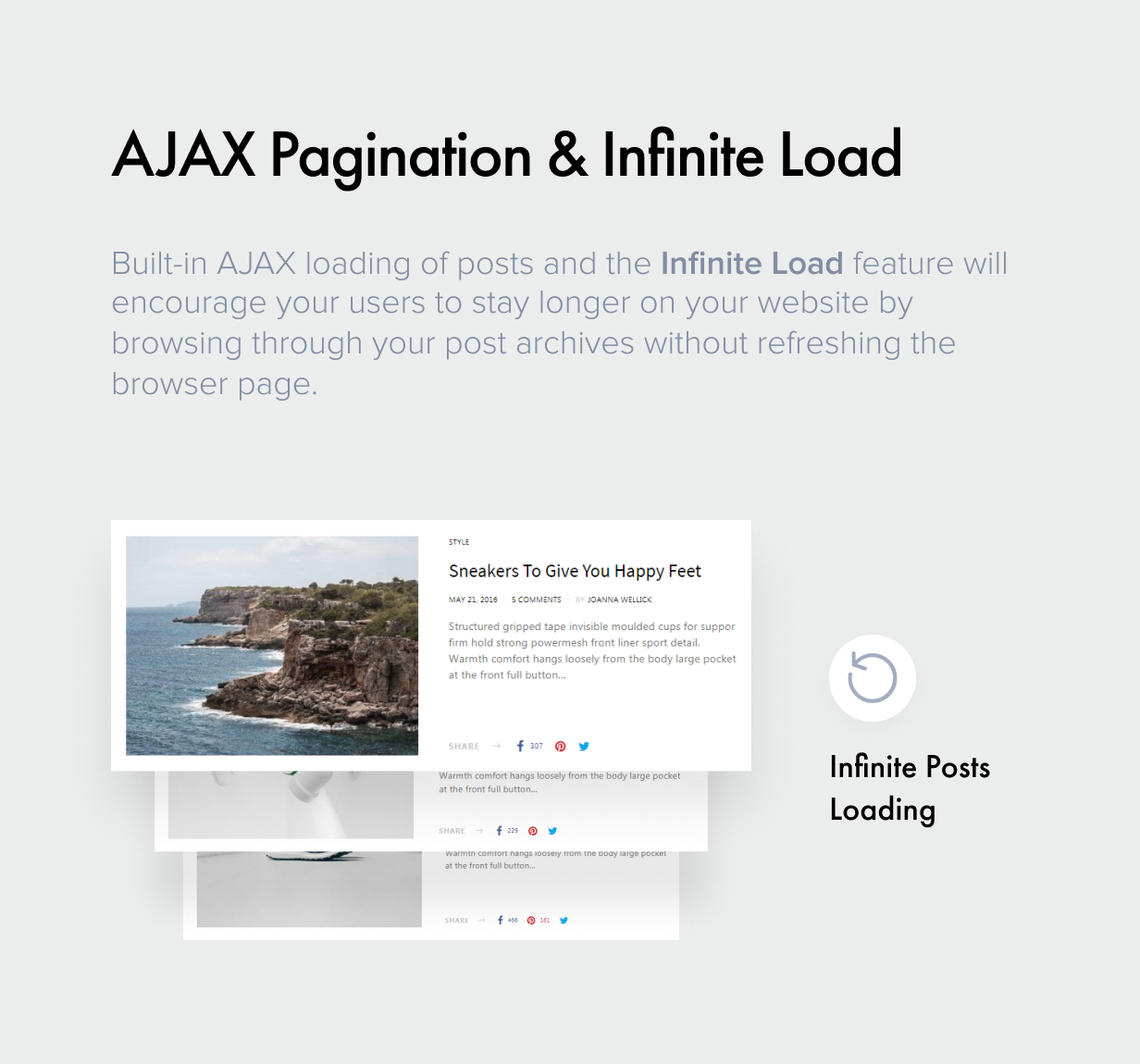 ajax pagination - Authentic - Lifestyle Blog & Magazine WordPress Theme