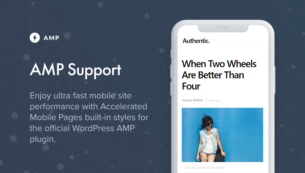 amp - Authentic - Lifestyle Blog & Magazine WordPress Theme