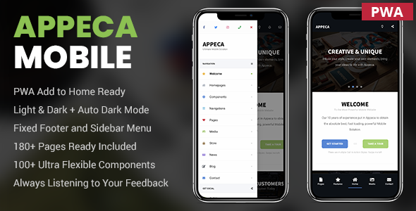 appeca30.  large preview - Appeca Ultimate Mobile Template