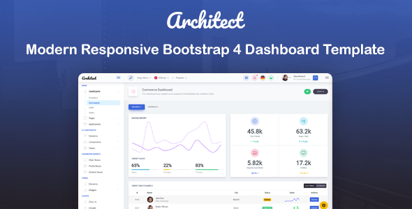architect html.  large preview - ArchitectUI - HTML Bootstrap 4 Admin UI Dashboard Template