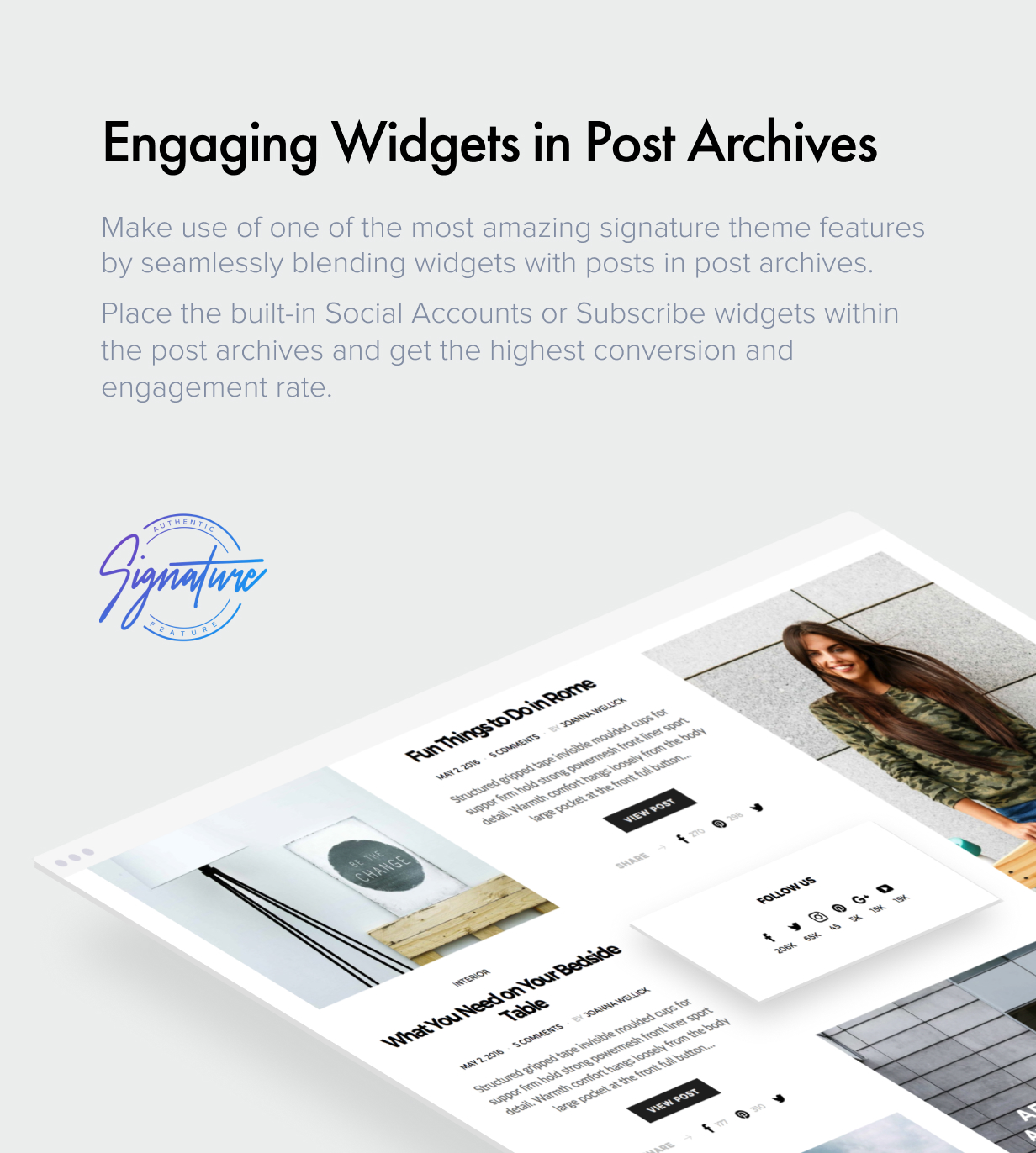 archive widgets - Authentic - Lifestyle Blog & Magazine WordPress Theme