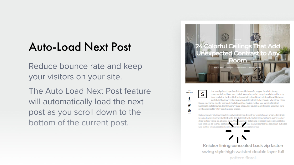 auto load - Authentic - Lifestyle Blog & Magazine WordPress Theme