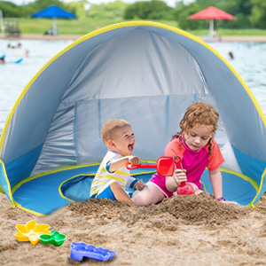 b2ef7f51 515e 491c 94c0 ea311de1a4c1.  CR0,0,300,300 PT0 SX300 V1    - TURNMEON Baby Beach Tent with Pool,2020 Upgrade Easy Fold Up & Pop Up Unique Ocean World Baby Tent,50+ UPF UV Protection Outdoor Tent for Aged 0-4 Baby Kids Parks Beach Shade (Blue)