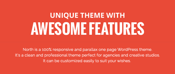 before first image - North - One Page Parallax WordPress Theme