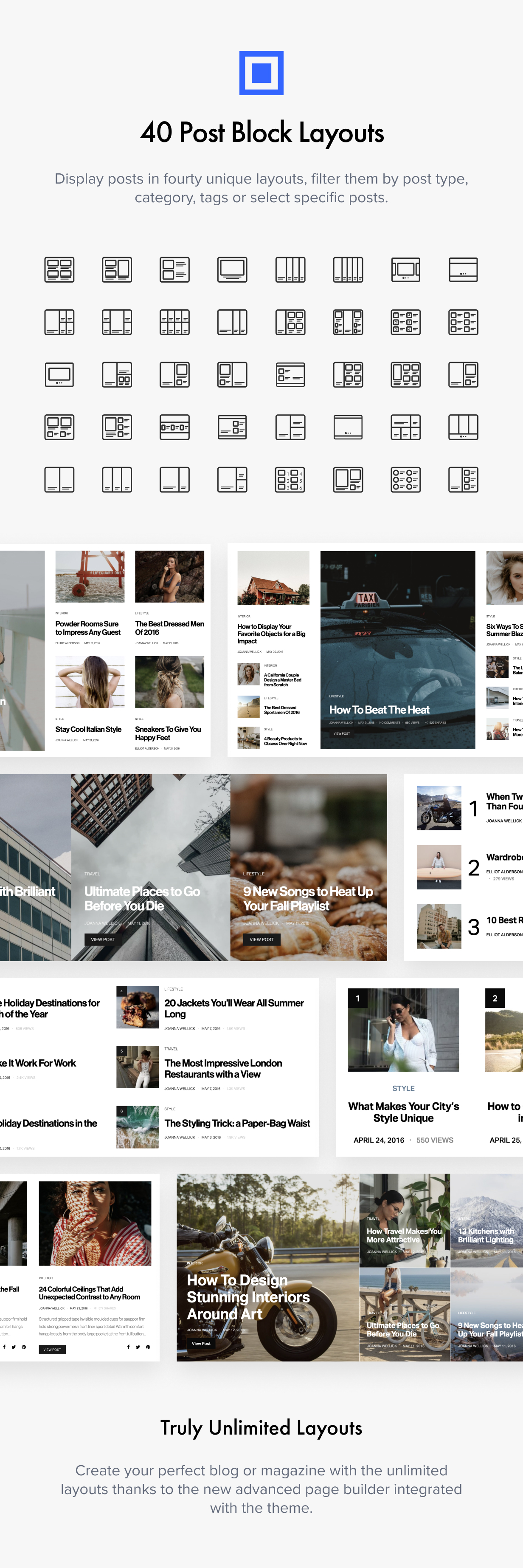 block layouts - Authentic - Lifestyle Blog & Magazine WordPress Theme