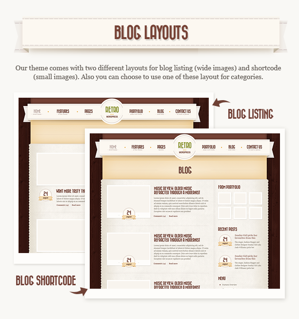 blog n - Retro - Vintage WordPress Theme