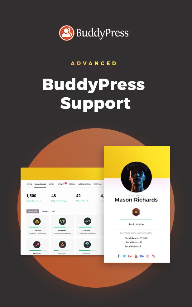 buddypress - BoomBox — Viral Magazine WordPress Theme