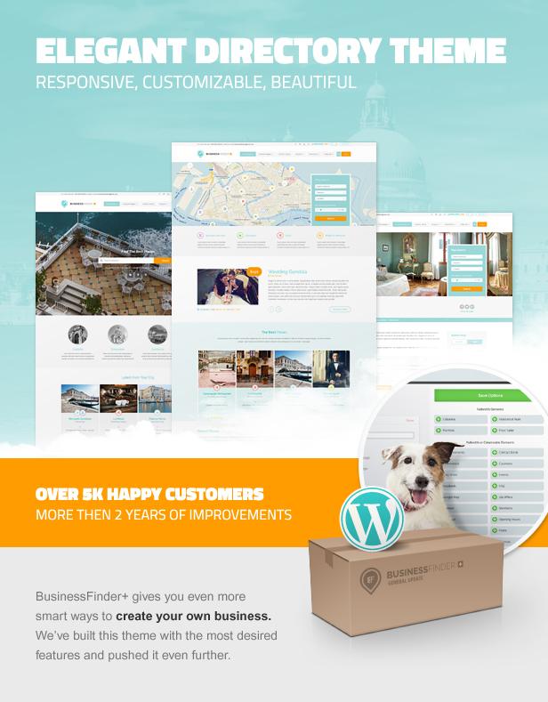 businessfinder intro - Business Finder: Directory Listing WordPress Theme