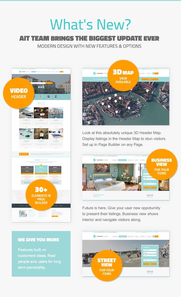 businessfinder whats new - Business Finder: Directory Listing WordPress Theme