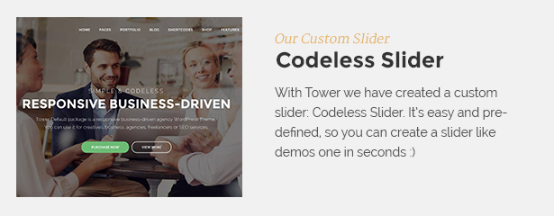codelesslider - Tower | Business WordPress