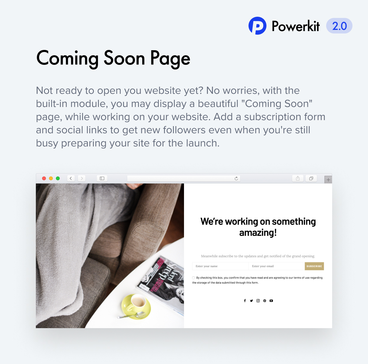 coming soon - Authentic - Lifestyle Blog & Magazine WordPress Theme