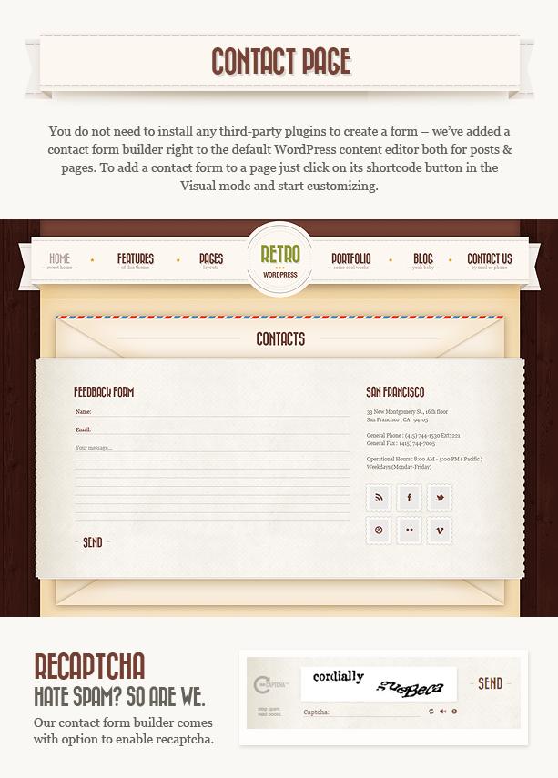 contacts n - Retro - Vintage WordPress Theme