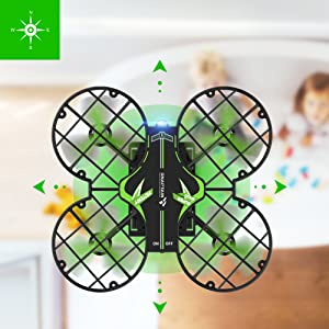 d972172d e8d9 46d3 b080 6d58d58e43c8.  CR0,0,1001,1001 PT0 SX300 V1    - SNAPTAIN H823H Mini Drone for Kids, RC Pocket Quadcopter with Altitude Hold, Headless Mode, 3D Flip, Speed Adjustment and 3 Batteries-Green