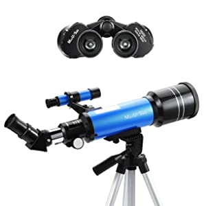 e4729627 9b89 42ed 8d62 0b05105df694. CR18,0,4911,4911 PT0 SX300   - MaxUSee Travel Telescope with Backpack - 70mm Refractor Telescope & 10X50 HD Binoculars Bak4 Prism FMC Lens for Moon Viewing Bird Watching Sightseeing