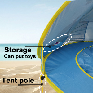 ea2f7d3f f4c0 4153 8f8e a3ffde5802a2.  CR0,0,300,300 PT0 SX300 V1    - TURNMEON Baby Beach Tent with Pool,2020 Upgrade Easy Fold Up & Pop Up Unique Ocean World Baby Tent,50+ UPF UV Protection Outdoor Tent for Aged 0-4 Baby Kids Parks Beach Shade (Blue)