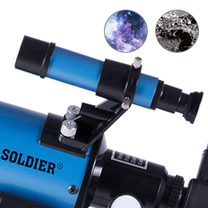 ec628712 ef3c 43b9 8426 a67f83fca049.  CR0,0,300,300 PT0 SX300 V1    - FREE SOLDIER Telescope for Kids&Astronomy Beginners - 70mm Aperture Refractor Telescope for Stargazing With Adjustable Tripod Phone Adapter Wireless Remote Perfect Travel Telescope Gift for Kids, Blue