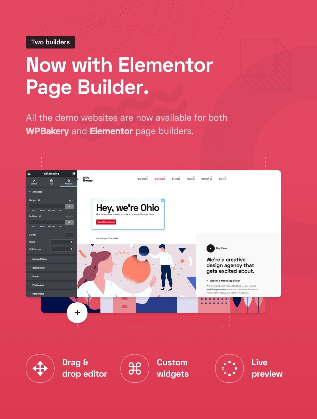 envato promo  616px builder v1 - Ohio - Creative Portfolio & Agency WordPress Theme