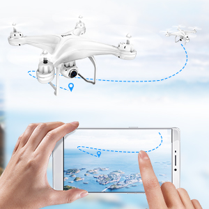 f530d91f a05e 4527 9145 eec45a8094e8.  CR0,0,300,300 PT0 SX300 V1    - Potensic T25 GPS Drone, FPV RC Drone with Camera 1080P HD WiFi Live Video, Auto Return Home, Altitude Hold, Follow Me, 2 Batteries and Carrying Case