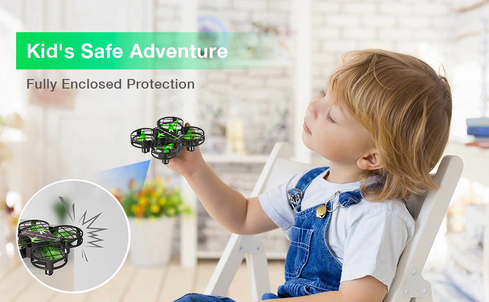 fdfe48a3 8c56 4dca b7cc 9d7178cb27c7.  CR0,0,970,600 PT0 SX970 V1    - SNAPTAIN H823H Mini Drone for Kids, RC Pocket Quadcopter with Altitude Hold, Headless Mode, 3D Flip, Speed Adjustment and 3 Batteries-Green