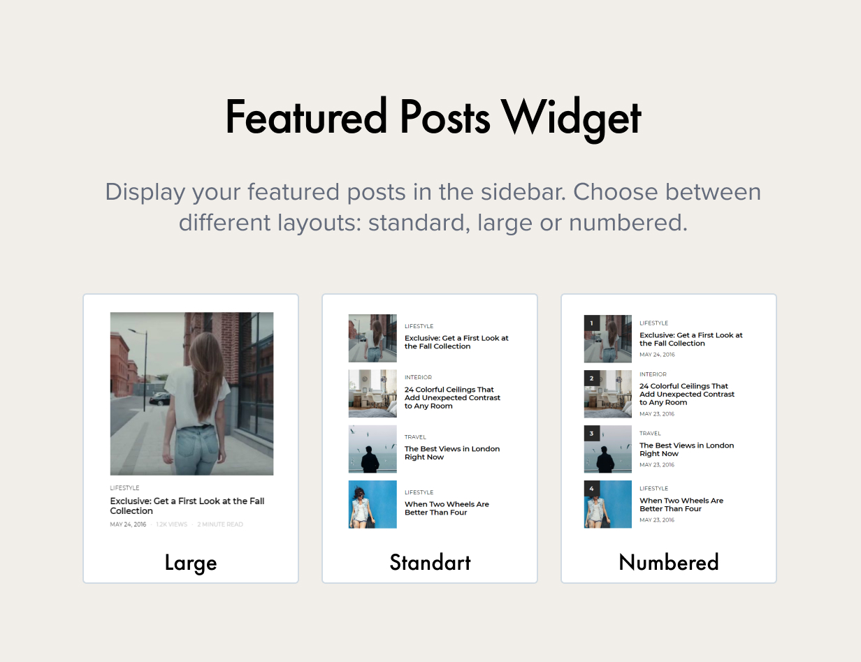 featured posts widget - Authentic - Lifestyle Blog & Magazine WordPress Theme