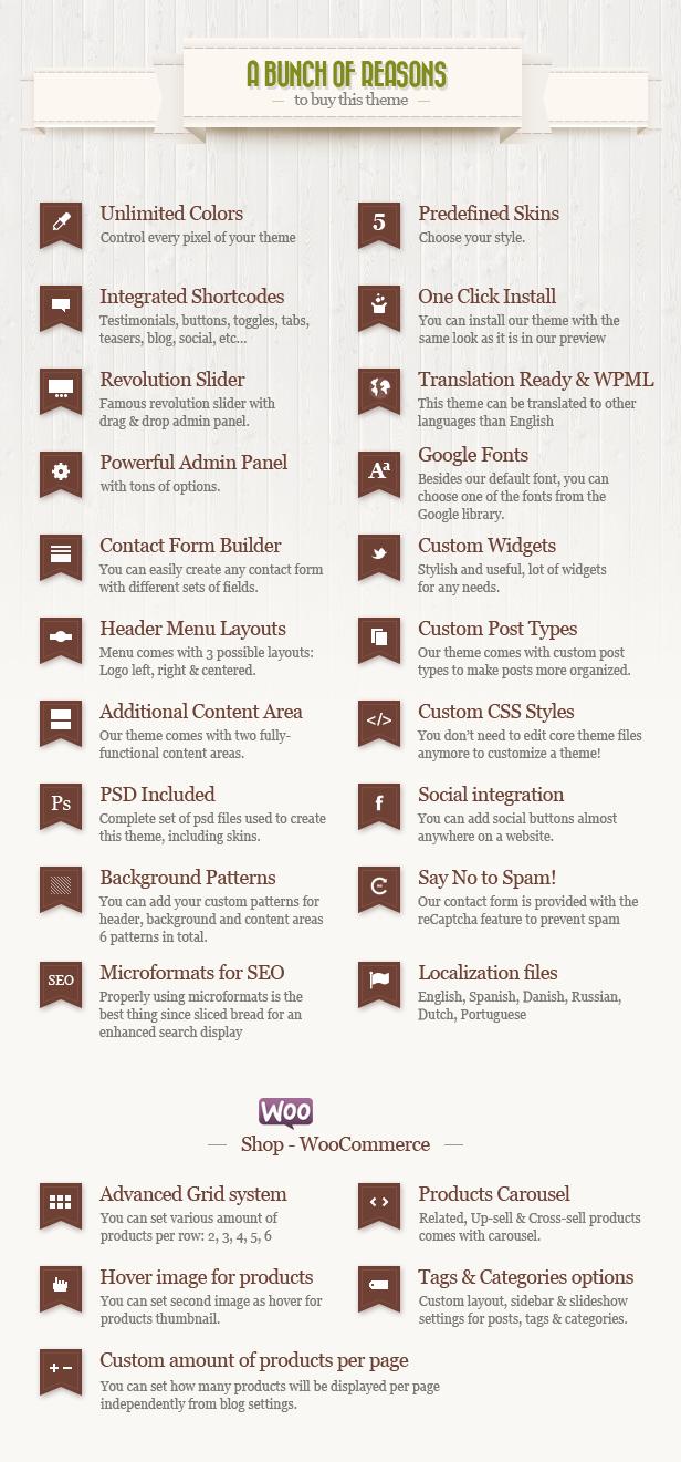 features n - Retro - Vintage WordPress Theme