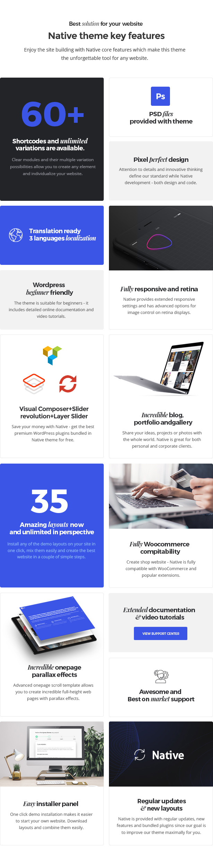 features now - Native - Stylish Multi-Purpose Creative WP Theme