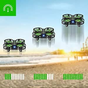 ff03af31 e55c 4699 a47e 2737a0e3b81d.  CR0,0,1001,1001 PT0 SX300 V1    - SNAPTAIN H823H Mini Drone for Kids, RC Pocket Quadcopter with Altitude Hold, Headless Mode, 3D Flip, Speed Adjustment and 3 Batteries-Green