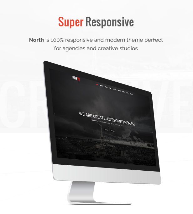 first image - North - One Page Parallax WordPress Theme