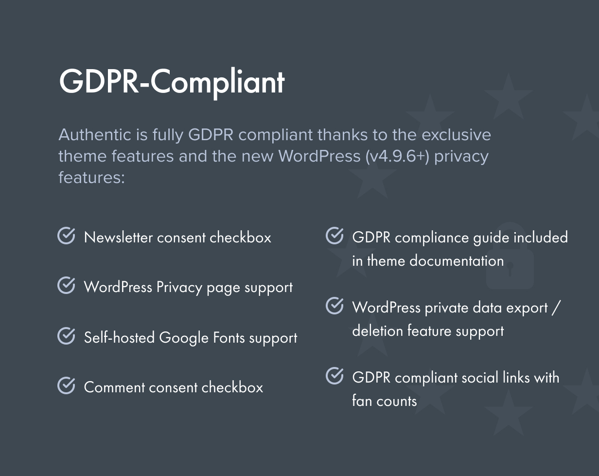 gdpr - Authentic - Lifestyle Blog & Magazine WordPress Theme
