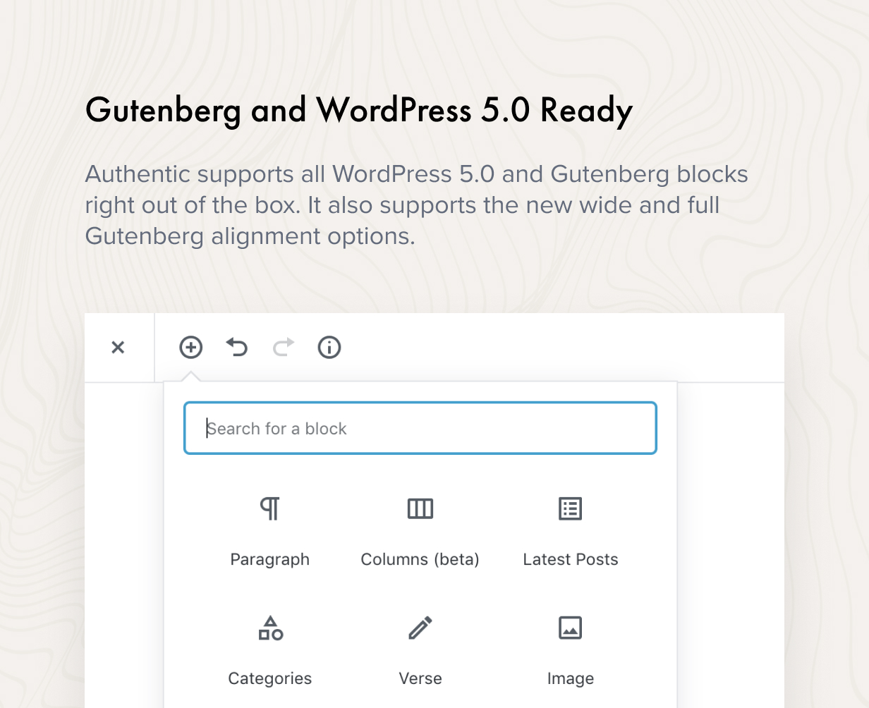 gutenberg - Authentic - Lifestyle Blog & Magazine WordPress Theme
