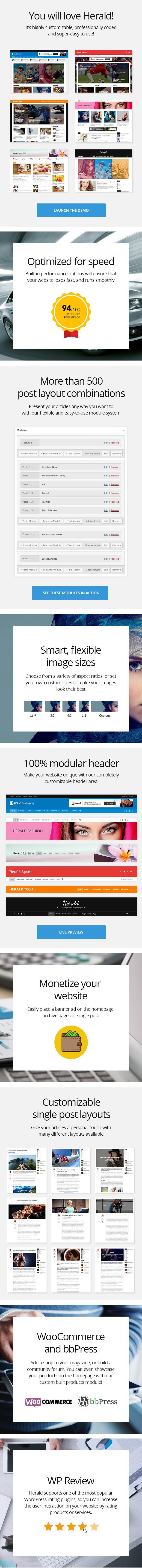 herald features part01 - Herald - Newspaper & News Portal WordPress Theme