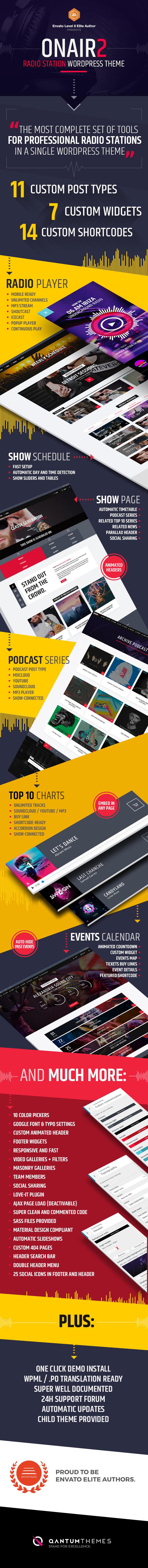 infographic - Onair2: Radio Station WordPress Theme With Non-Stop Music Player
