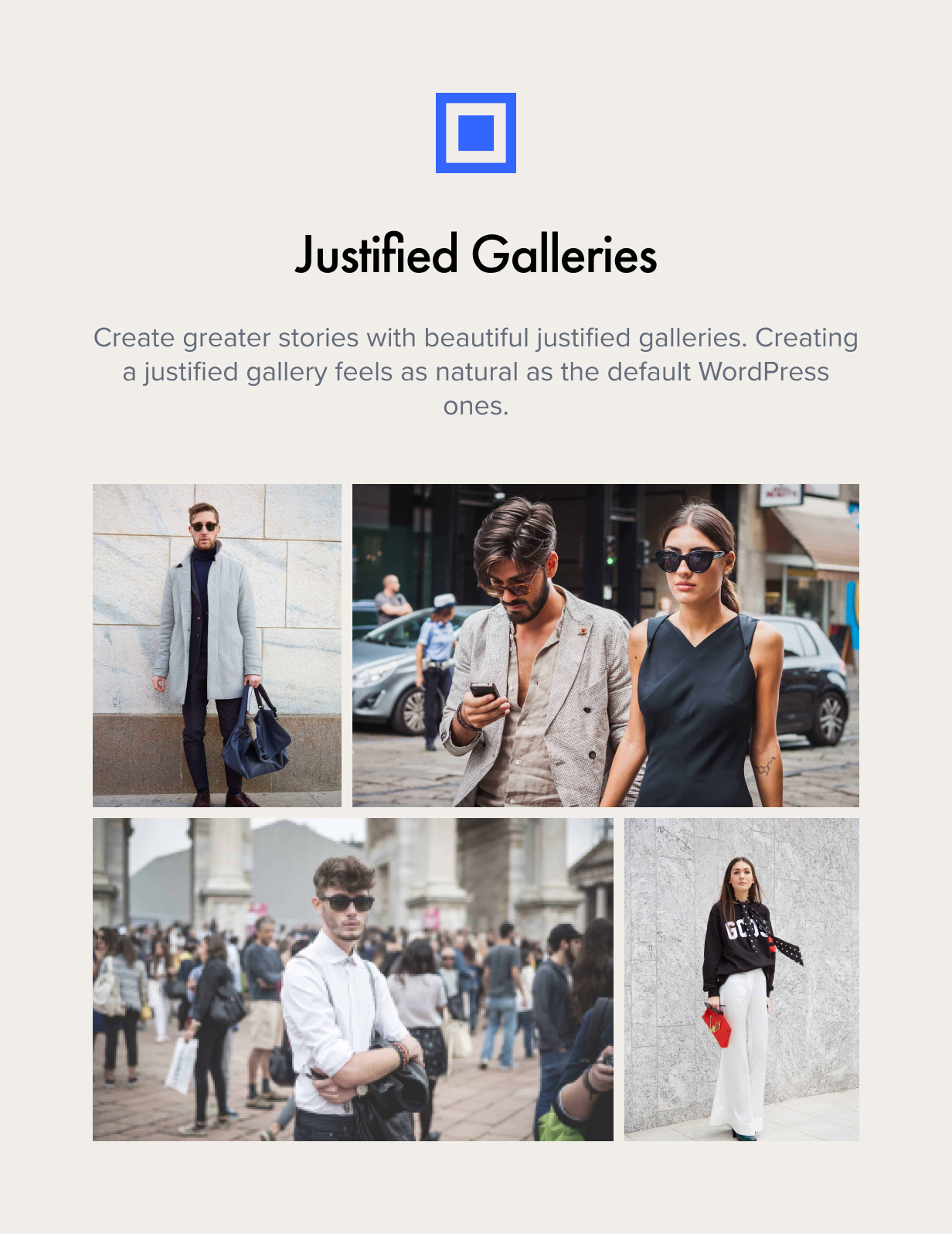 justified galleries - Authentic - Lifestyle Blog & Magazine WordPress Theme