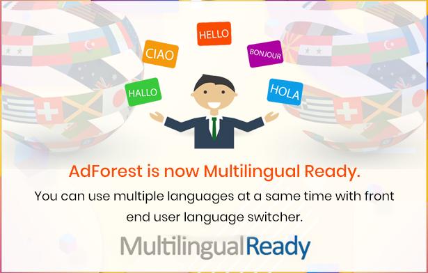 multilingual ready - AdForest - Classified Ads WordPress Theme