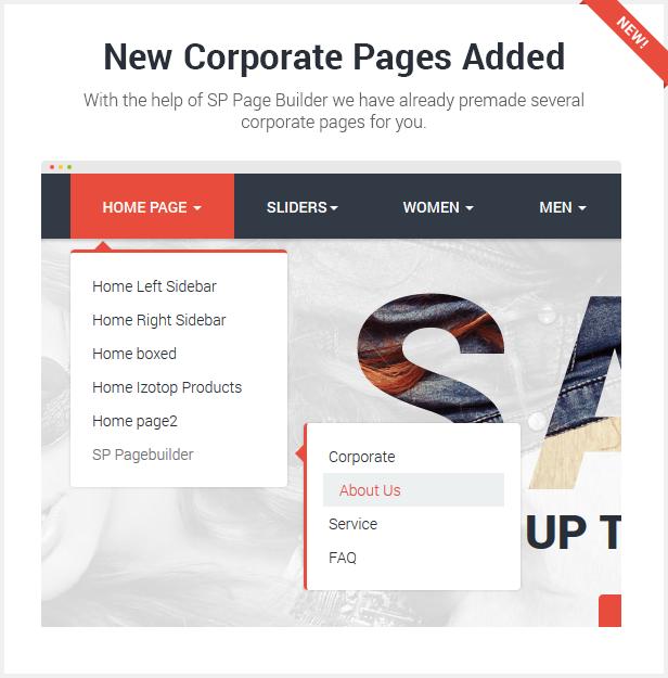new corporate pages - Flatastic Responsive Multipurpose VirtueMart Theme