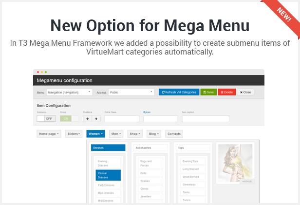 new option mega menu - Flatastic Responsive Multipurpose VirtueMart Theme