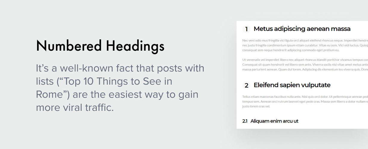 numbered headings - Authentic - Lifestyle Blog & Magazine WordPress Theme