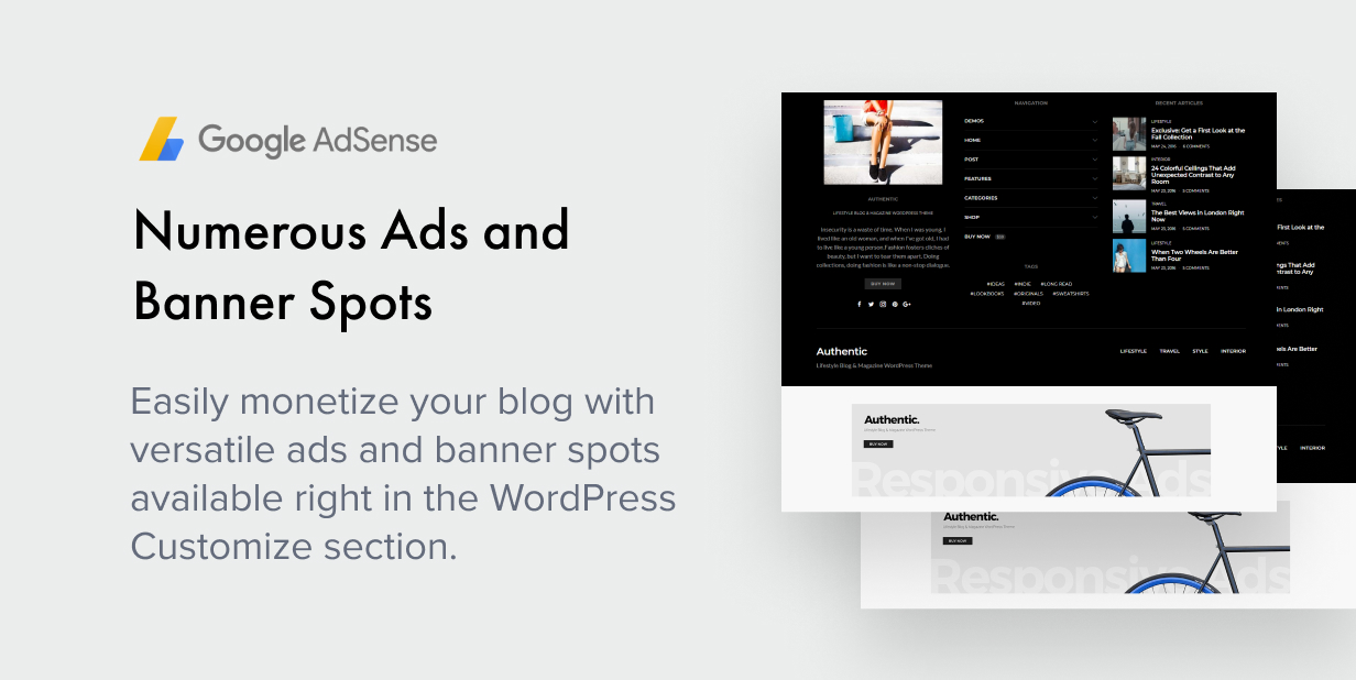 numerous ads - Authentic - Lifestyle Blog & Magazine WordPress Theme